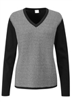 PING Imogen V-Neck Sweater - Black/Ice