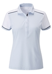 PING Allura Short Sleeve Golf Polo - Ice/White