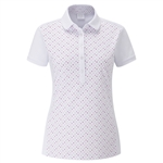 PING Rae Short Sleeve Polo- White Multi