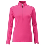 PING Melrose 1/2 Zip Top - Hot Pink