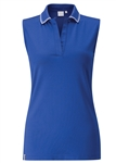 PING Dee COOLMAX Sleeveless Polo - Cobalt