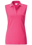 PING Dee COOLMAX Sleeveless Polo - Hot Pink