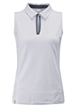 PING Eliza Sleeveless Polo - White/Grey