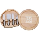 Kirk & Matz Round Cheese Board & Tool Set