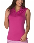 Chase54 Cosmo Sleeveless Polo - Ruby