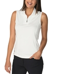 Chase54 Cosmo Sleeveless Polo - White