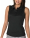 Chase54 Elena Black Sleeveless Polo