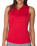 Chase54 Elena Crimson Sleeveless Polo