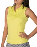 Chase54 Elena Citron Sleeveless Polo