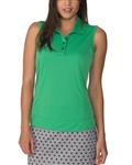 Chase54 Elena Sleeveless Polo - Shamrock