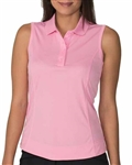Chase54 Elena Soft Pink Sleeveless Polo