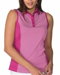 Chase54 Embark Sleeveless Polo - Ruby
