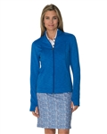 Chase54 Fleece Zip Up Fleece Jacket - Cobalt