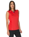 Carmel Sleeveless Polo - Scarlet