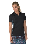Chase54 Serra Short Sleeve Polo - Black