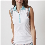 Chase54 Delight Sleeveless Polo - White