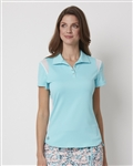 Chase54 Awaken Short Sleeve Polo - Aquarius