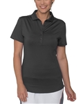 Chase54 Scrunchy Short Sleeve Golf Polo - Black