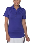 Chase54 Scrunchy Short Sleeve Golf Polo - Iris