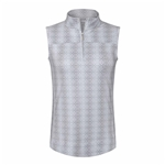 Chase54 Lavish Sleeveless Mock - Silver/White