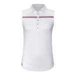 Chase54 Aloft Sleeveless Polo - White