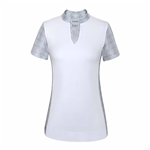 Chase54 Wealth Short Sleeve Mock - White/Silver