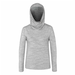 Chase54 Falls Hi-Lo Cowel Neck Pullover - Heather Grey