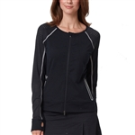 Chase54 Bliss Full Zip Tennis Jacket - Black