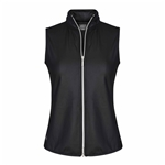 Chase54 Lofty Cire Hooded Zip Vest - Black