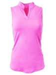 EllaBelle Perfect Sleeveless Polo - Bubble Gum Pink