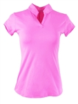 EllaBelle Perfection Short Sleeve Polo Bubble Gum Pink