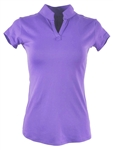 EllaBelle Perfection Short Sleeve Polo  Perfect Purple