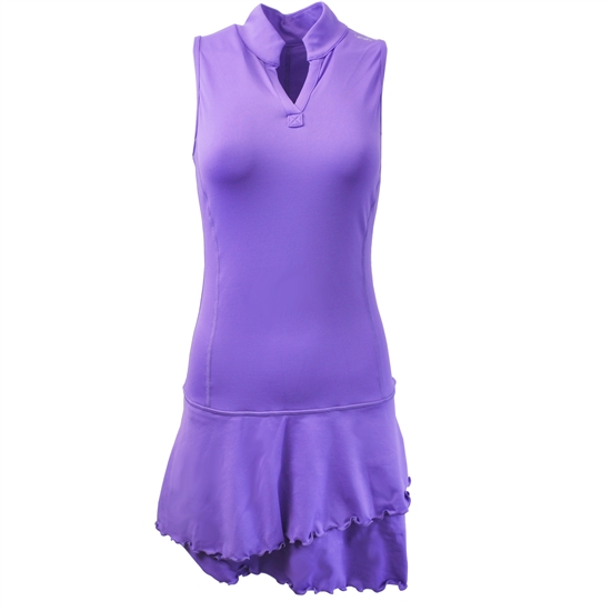 EllaBelle Sleeveless Chacha Dress - Perfect Purple