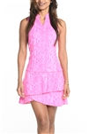 EllaBelle Sleeveless Chacha Dress - Pink Python