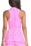 EllaBelle Perfection Racerback Top - Pink Python