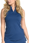 EllaBelle Perfection Sleeveless Top - Navy