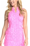 EllaBelle Perfection Sleeveless Top - Pink Python