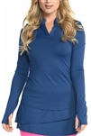 EllaBelle Perfection Long Sleeve Top - Navy