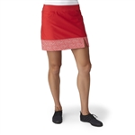 Adidas Golf Adistar Printed Hem Skort - Ray Red