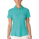 Adidas Golf Cotton Hand Stripe Polo - Nordic Green