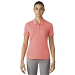 Adidas Essentials Cotton Hand Polo - Easy Coral Heather