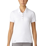 Adidas Essentials Cotton Hand Polo - White
