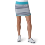 Adidas Rangewear Fashion Golf Skort - Light Grey Heather/Energy Blue