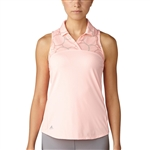 Adidas Merch Print Sleeveless Polo - Haze Coral
