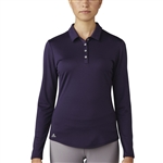 Adidas Performance Long Sleeve Polo - Purple