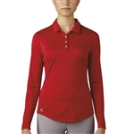 Adidas Performance Long Sleeve Polo - Power Red