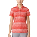 Adidas Essentials 3-Stripe Novelty Polo - Core Red/White