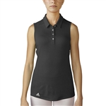 Adidas Performance Sleeveless Polo - Black