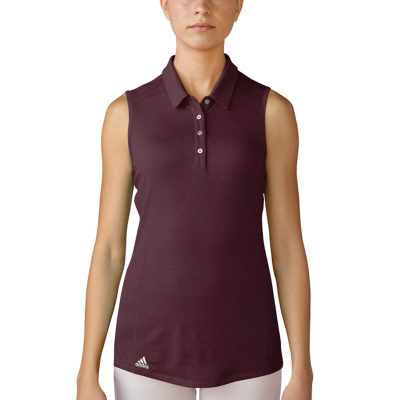adidas sleeveless polo shirt
