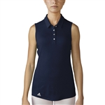 Adidas Performance Sleeveless Polo - Navy